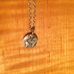 Sterling silver world necklace